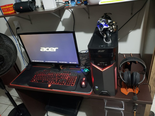 Pc Gamer Acer I7 7700 16gb 1060 6gb + Monitor 144hz+completo
