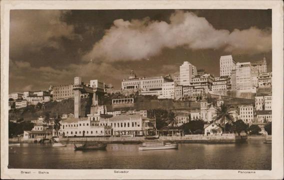 Cartão Postal Antigo Salvador Bahia Panorama 1958