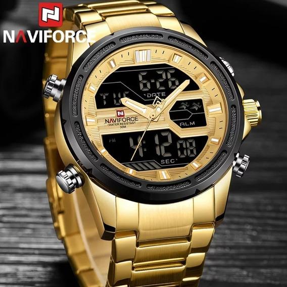 Relógio Naviforce Masculino Esportivo Aço Inoxidavel Barato