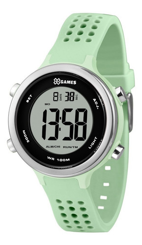 Relógio Feminino Digital Verde X-games Pulseira De Silicone