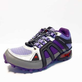 Zapatillas Montagne Moran Violeta Trekking Mujer