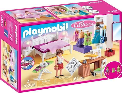 Imagen 1 de 6 de Playmobil Dormitorio Con Rincon De Costura 70208 Edu Full