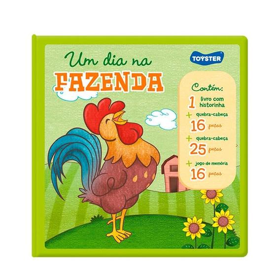 Livro Brinquedo Um Dia Na Fazenda 2535 - Toyster