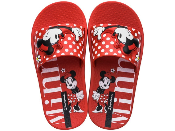Chinelo Infantil Slide Ipanema Kids Disney Minnie Mickey