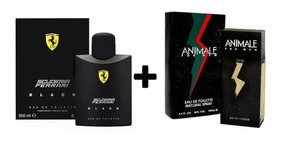 Kit Ferrari Black 125 Ml+animale For Men 100 Ml Original