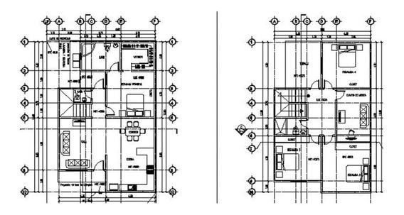 Plano De Casa 4 Rec. Para Terreno 10x20 Listo Para Construir