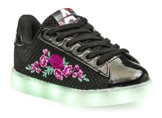 Zapatillas Niñas Led Addnice Urban Flores