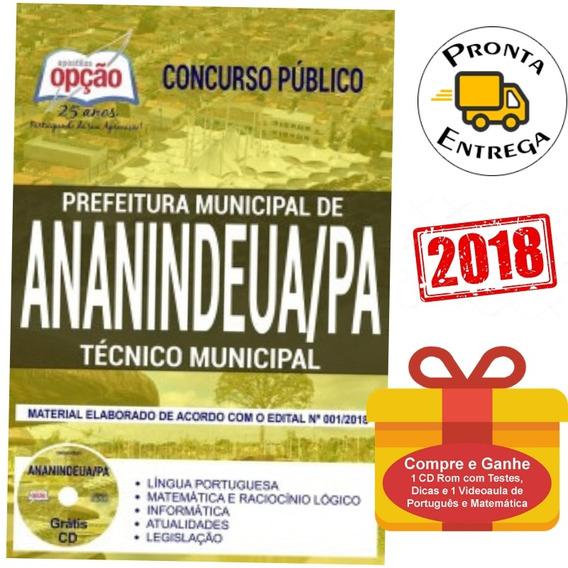 Apostila Técnico Municipal Prefeitura Ananindeua Pa 2019