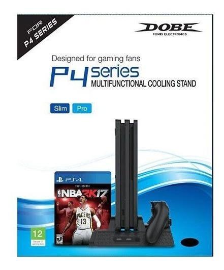 Ventilador Ps4 Playstation4 Carga 2 Palancas Slot Parajuegos