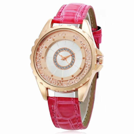 Relógio Feminino De Luxo Vermelho -lindo/ Novo- Frete Grátis
