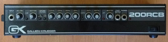 Cabeçote P/ Baixo Gallien-krueger 200rcb