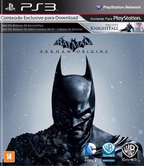 Game Play3 - Batman Arkham Origins - Semi-novo Jogo Ps3
