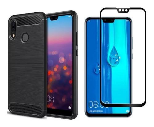 Forro Estuche Funda Protector Huawei Y9 2019 + Vidrio 5d