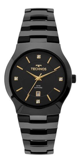 Relógio Feminino Technos Gn10au/4p 35mm Ceramica Preta