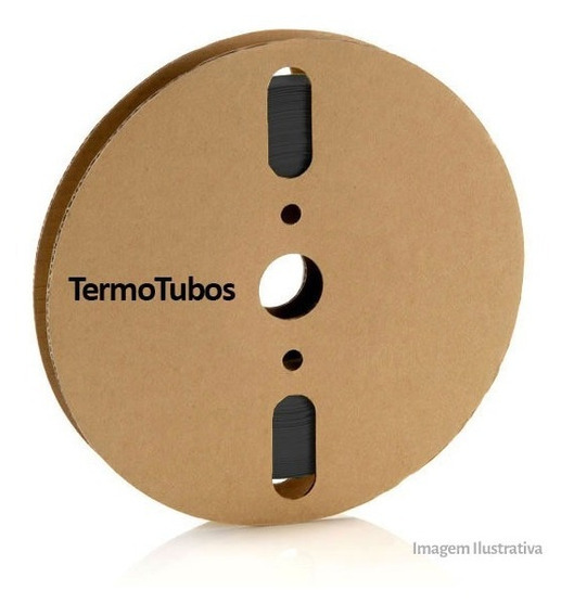 Espaguete Tubo Termo Retrátil Preto 8mm 5 Metros