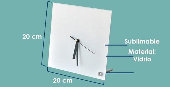 20 Relojes Cuadrados Sublimarts 20x20 Cm