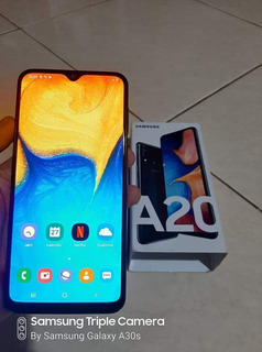 Celular Samsung Galaxy A 20/ 32gb-cor Azul