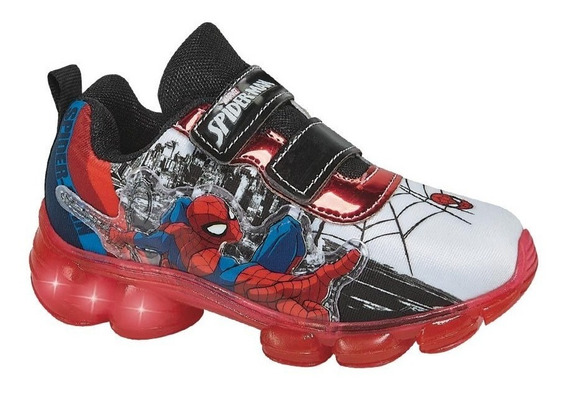 Tenis Niño Con Luces Spider-man 833363 Ps Fall19