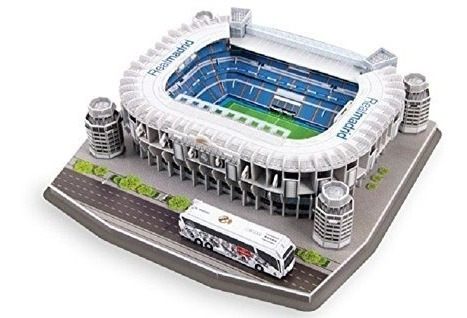 Maqueta Estadio 3d Para Armar!!! Real Madrid!! Bernabeu!!