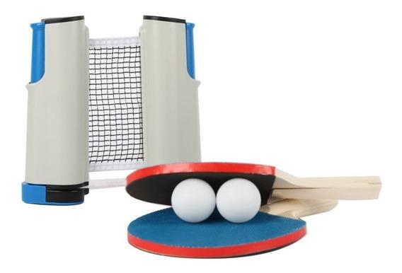Kit Ping Pong Deluxe Red Automatica Portatil Raquetas Pelota