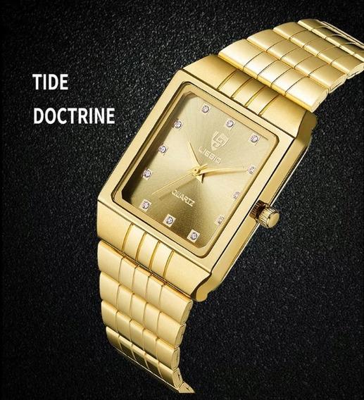 Relógio Luxo Feminino Original Skmei Liebig Aço Inox Barato