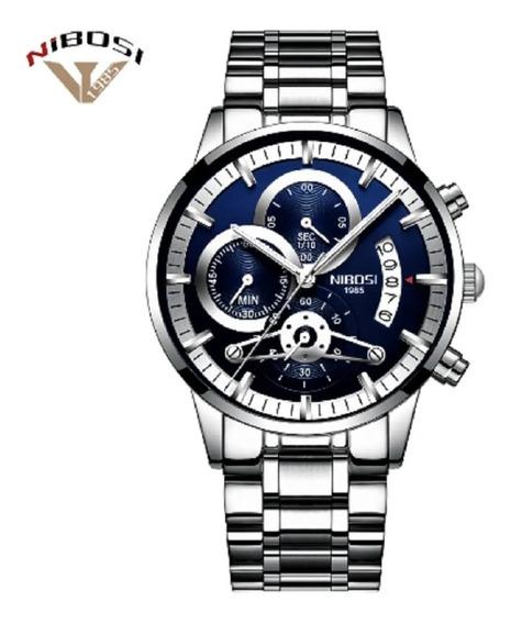 Relógio Nibosi Masculino De Luxo Original 2309 Frete Gratis