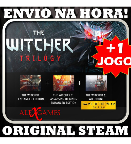 The Witcher Trilogy Original Steam Todas As Dlc