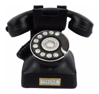 Alcancia Resina Telefono Antiguo 13 Cm X 11 Cm