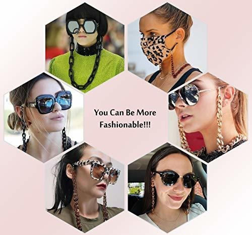 FanLe M/áscara Collar Soporte Cadenas para anteojos para Mujer Cord/ón para anteojos con Clips Soportes para anteojos Alrededor del Cuello para Mujer Elegante cord/ón para m/áscara para ni/ños