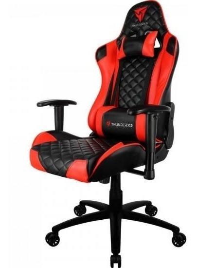 Cadeira Gamer Pro Tgc12 Preta/verme Thunderx3 - Frete Gratis