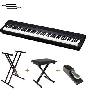 Piano Casio Privia Px160 88 Teclas Peso + Soporte + Banqueta