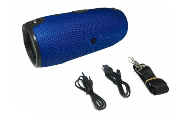 Caixa De Som Inova Bluetooth 20w Portátil Sem Fio Azul