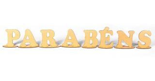 Letras Com Base Parabéns Para Festa Mesa Bolo Mdf