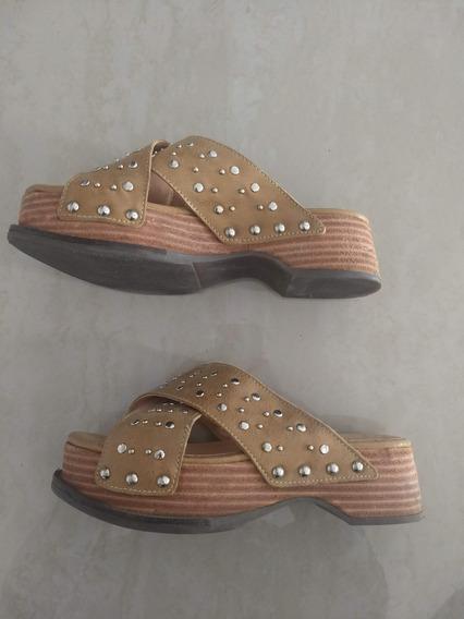 Sandalias Zapatos Heyas Para Mujer Usadas Con Tachas