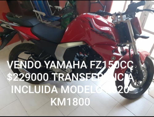 Yamaha Fz 150 Cc. Modelo 2020 Unico Dueño-3000km -c/service