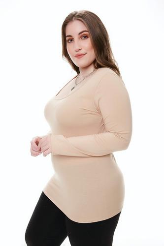 12 Remeras M/larga Mujer T Especial 7-8-9-10 Modal Por Mayor