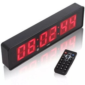 Cronometro Relógio Led Digital Parede Ou Mesa - Promoção