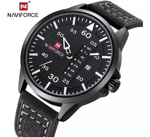 Relógio Analógico Naviforce Masculino Luxo Original Promoção