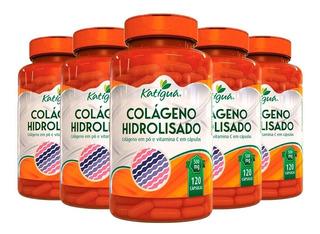 Colágeno Hidrolisado Com Vitamina C -5 Un 120 Cáps- Katigua