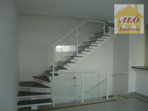 Sobrado Com 2 Dormitórios À Venda, 104 M² Por R$ 550.000,00 - Boqueirão - Santos/sp - So0196