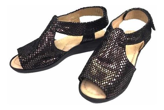 Sandalia Para Damas 0005/negro