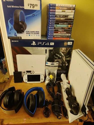 Paquete De Consola Sony Playstation 4 Pro 1tb Pstv Y Psvita