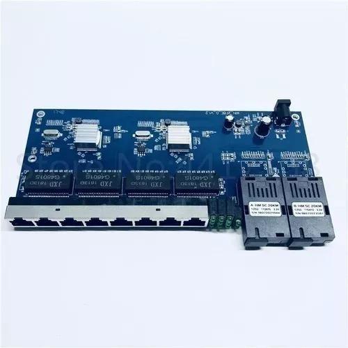 Placa Switch Metro Giga2sc 8 Rj45 10/100/1000 Fibra S/ Fonte