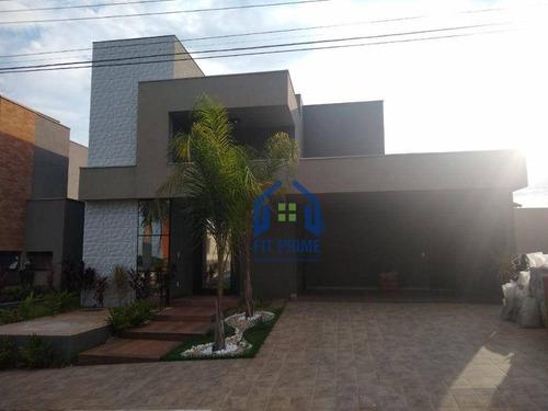 Casa Com 3 Dormitórios À Venda, 240 M² Por R$ 1.100.000,00 - Village La Montagne - São José Do Rio Preto/sp - Ca2378