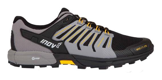 Tenis Hombre Inov8 Negro/amarillo Montaña Roclite 275 G-grip
