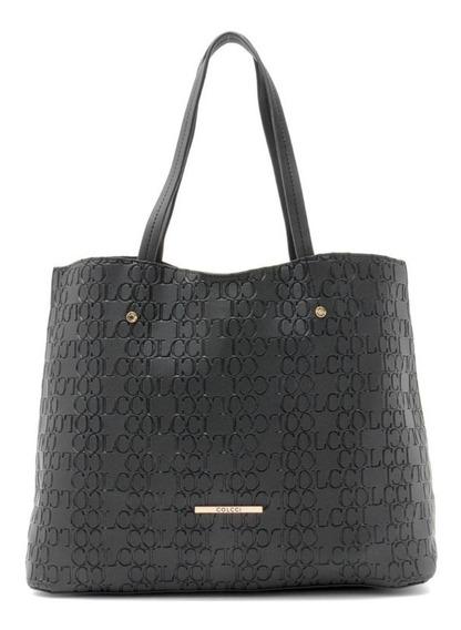Bolsa Shopper Colcci Texturizada Preta - Nova E Original
