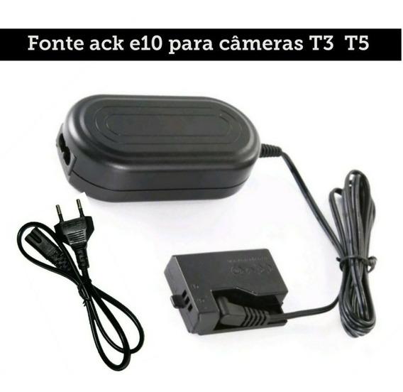 Fonte Ack-e10 Adaptador Ac P/ Canon Rebel T3 T5 1100d 1200d