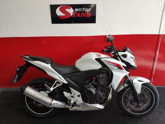Honda Cb 500f 500 F Abs 2014 Branca Branco