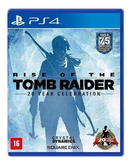 Jogo Rise Of The Tomb Raider 20 Year Celebration Física Ps4