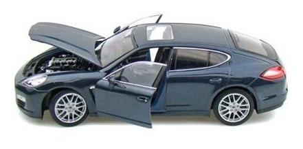 Miniatura Carro Porsche Panamera S Azul Welly Escala 1/24